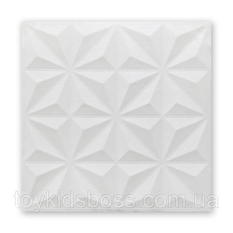 Самоклеющаяся декоративная потолочная 3D панель звезды 700x700x5мм