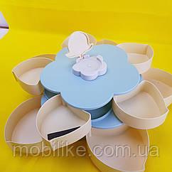 Вращающаяся конфетница SUNROZ Flower Candy Box для конфет и фруктов Фруктовница