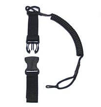 Страхувальний шнур на пістолет швидкознімний POL&ARM Black