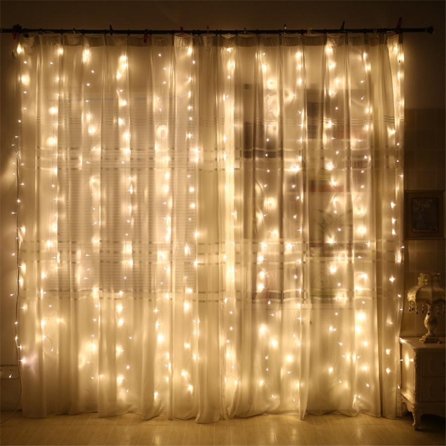 Гирлянда Бахрома 4x0,6 метра 96 LED, 19 нитей, 220В, IP44, (улица и дом)  СС-1792-65