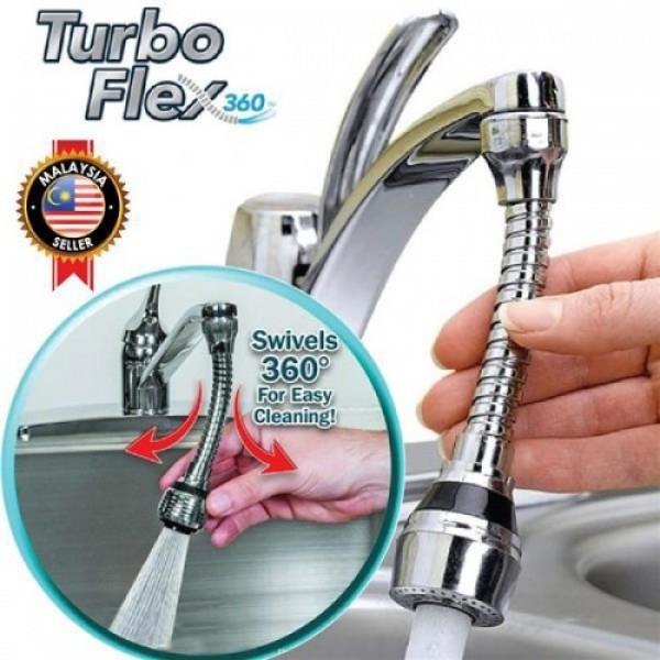 Насадка на кран аэратор экономия воды Turbo Flex 360 универсальный адаптер для внутренней и внешней резьбы