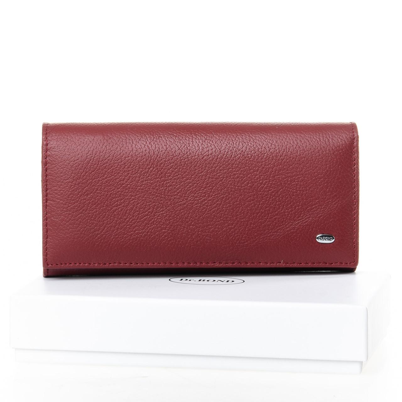 Женский кожаный кошелек DR. BOND W1-V-2 dark-red