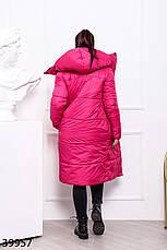 Пальто женское теплое длинное с капюшоном зимнее размеры44-60, фото 3