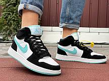 Чоловічі кросівки Nike Air Jordan 1 Retro,чорно-білі, фото 2