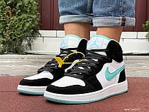 Чоловічі кросівки Nike Air Jordan 1 Retro,чорно-білі, фото 3