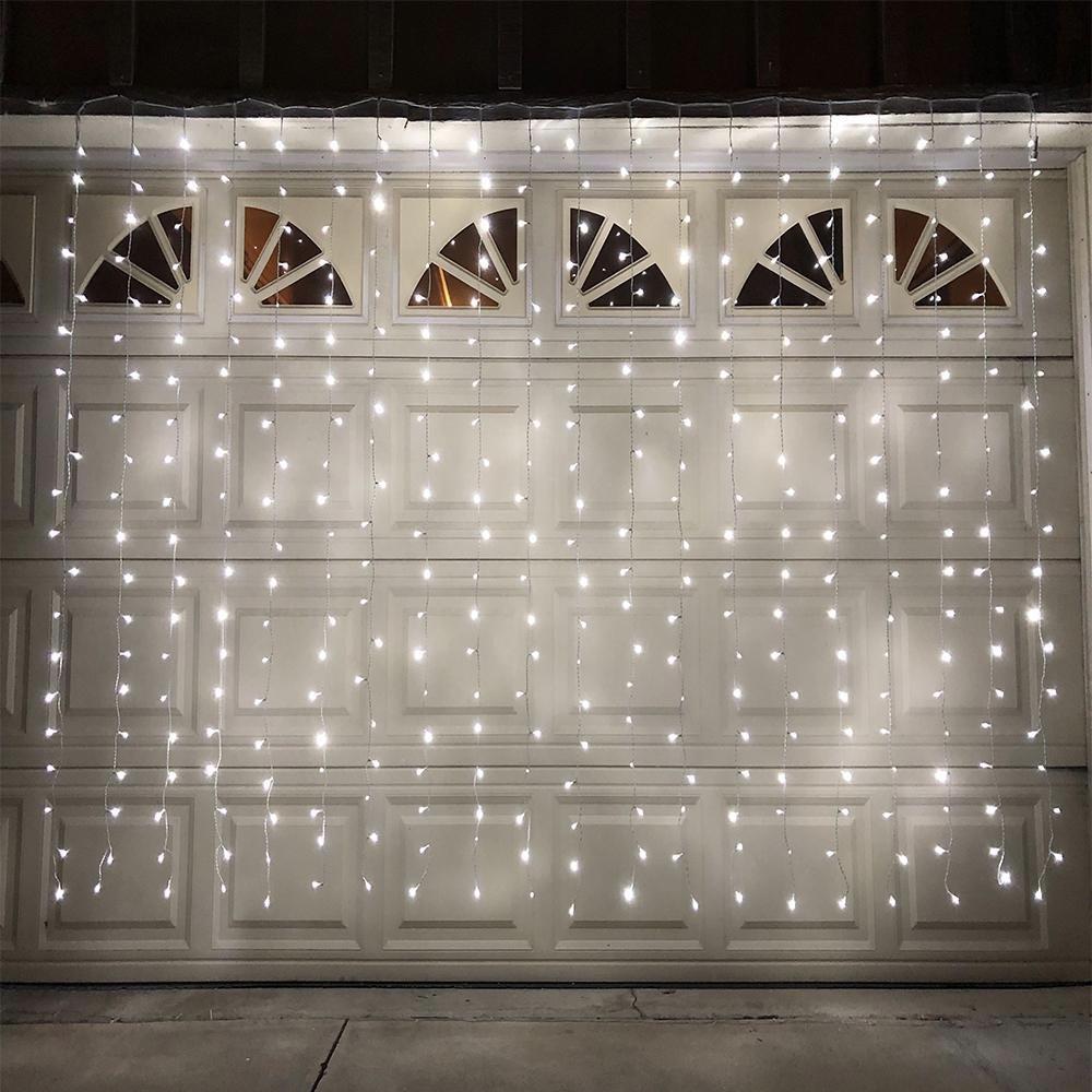 Электрическая гирлянда новогодняя Multi Function водопад штора занавес звездопад LED 320L 3х3 м белый холодный