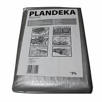 Тент Plandeka 6м х 8м с люверсами, полипропиленовый 100г/м²