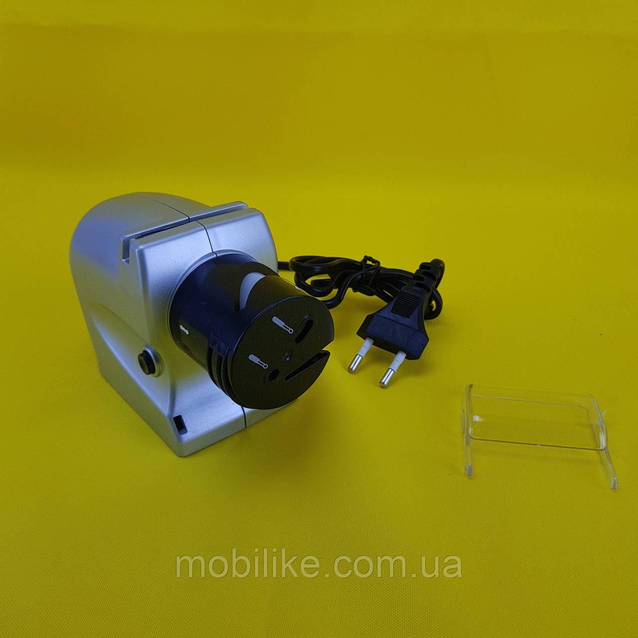 Автоматическая электрическая точилка для ножей и ножниц от сети 2 в 1
