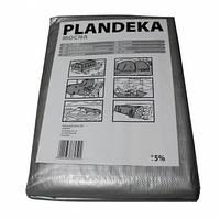 Тент Plandeka 6м х 10м с люверсами, полипропиленовый 100г/м²