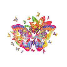 Цветной пазл Драгоценная Бабочка (170 деталей) Wood Trick - механический деревянный 3D пазл конструктор, фото 3