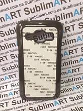 Чехол для 2D сублимации пластиковый на Samsung Galaxy j1 черный