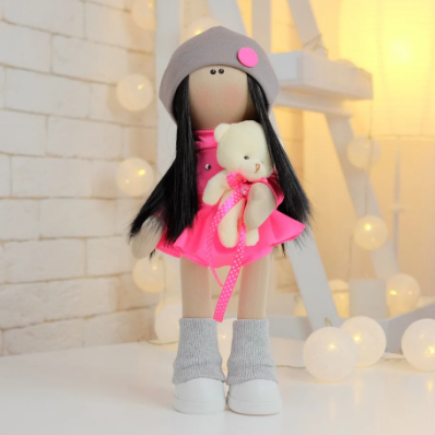 Подарки, мягкие игрушки, куклы-тильды. Текстильная куколка ГИМНАСТКА НИКА :)