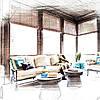 Оформление текстилем террас и беседок, фото 2