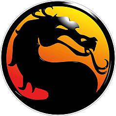 Наклейка на коробку-сюрприз Мортал Комбат / Mortal Kombat