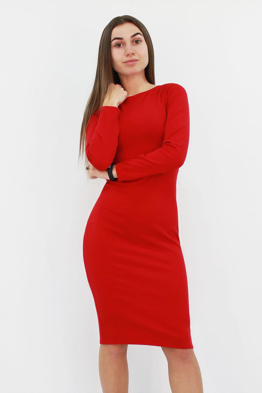 Удобное повседневное платье-футляр Helga, красный