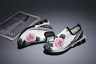 Женские мокасины Dolce&Gabbana с розами