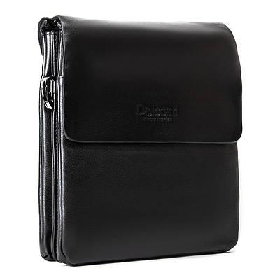 Мужская кожаная сумка планшет через плечо DR. BOND GL 309-2 black