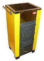 Котел 20 кВт на дровах КОТВ-20ПВ VIP с плитой и водонагревом