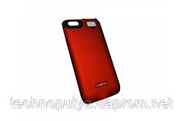 Чохол-акумулятор Moxom для iPhone 6/6s 3000 мА/год з додатковим вбудованим спалахом Червоний (2042)