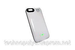 Чохол-акумулятор Moxom для iPhone 6/6s 3000 мА/год з додатковим вбудованим спалахом Білий (2043)