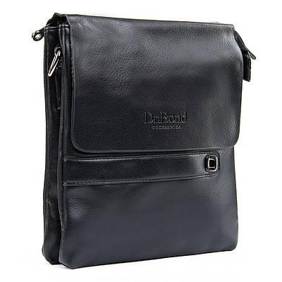 Мужская кожаная сумка планшет через плечо DR. BOND GL 512-2 black