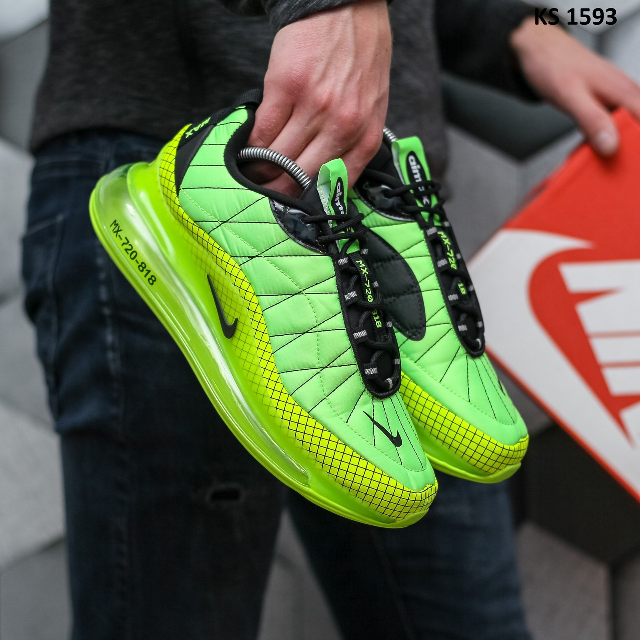 Мужские кроссовки Nike Air Max AM720-818 (зеленые) KS 1593