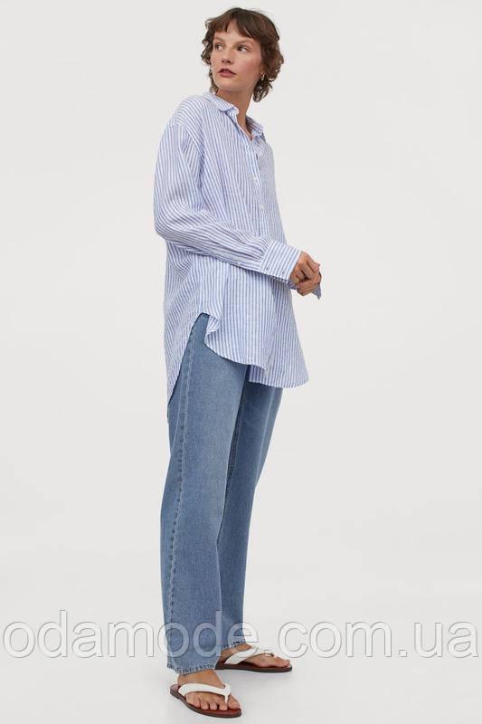 Женская рубашка льняная  H&M