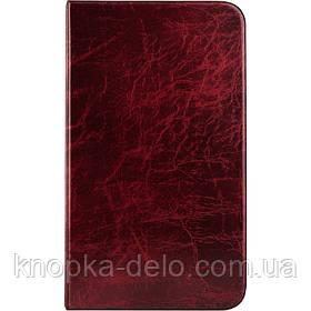Визитница  2503-04-А 80 визиток. 4 кольцевых механизма, 2 замка. Материал обложки: Xepter. Цвет: бордовый.