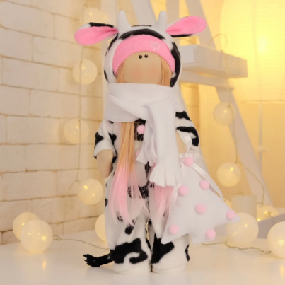 Подарки, мягкие игрушки, куклы-тильды. Текстильная куколка Милка:)