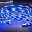 Светящийся кабель зарядки магнитный 2 м micro USB (0188unk), фото 3