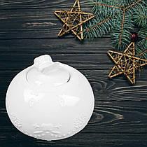 Сахарница с крышкой, белая, фарфоровая, круглая, диаметр 8 см