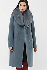 Шикарное женское зимнее пальто с воротником песец размеры:42-50, фото 3