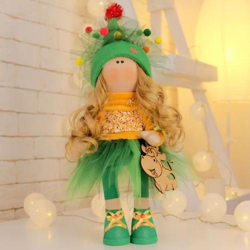 Подарки, мягкие игрушки, куклы-тильды. Интерьерная текстильная кукла-тильда Ёлочка :)