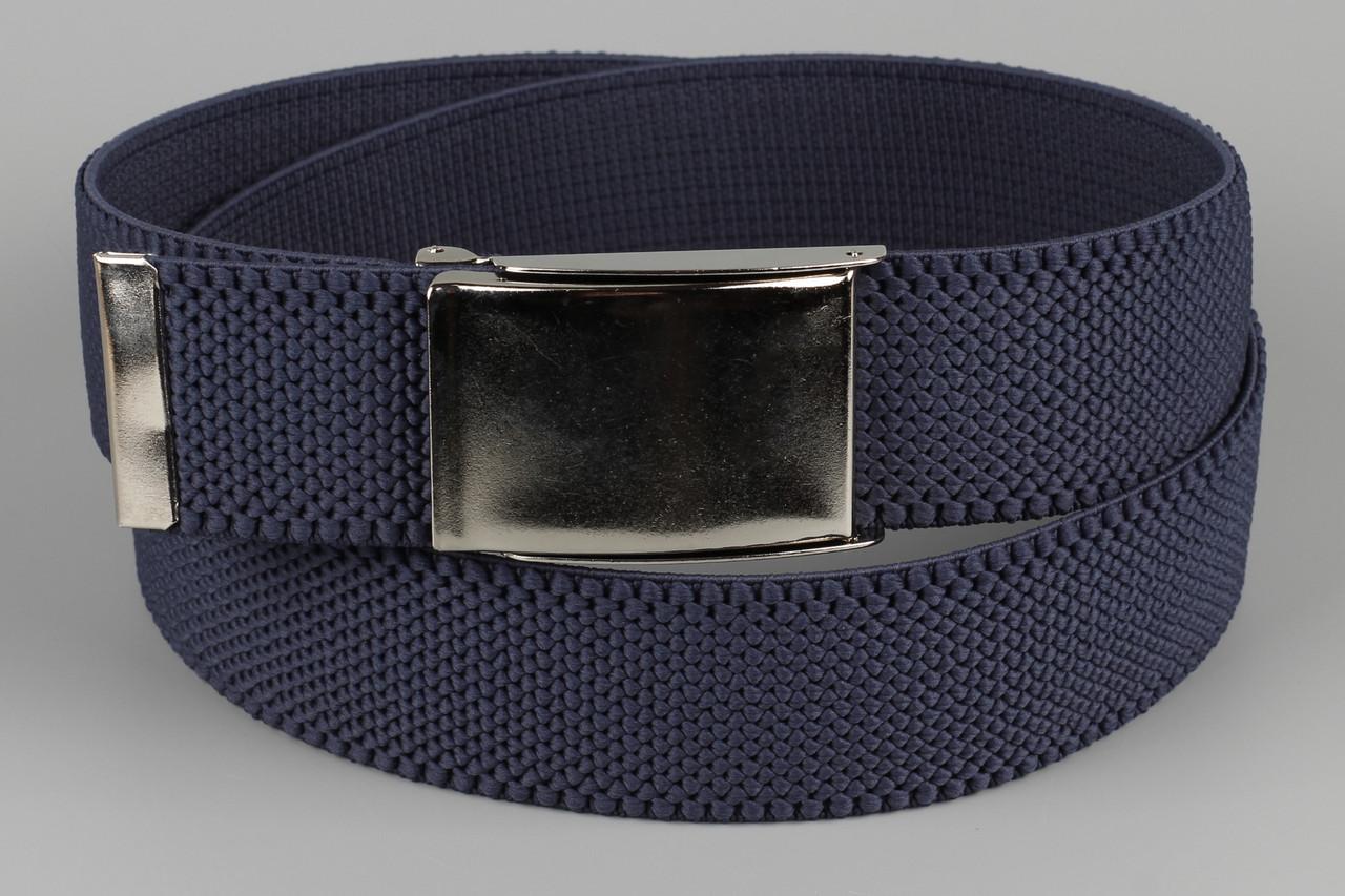 Ремень джинсовый резинка с открывалкой для бутылок на пряжке 40 мм темный джинс