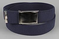 Ремень джинсовый резинка с открывалкой для бутылок на пряжке 40 мм темный джинс, фото 1