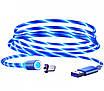 Светящийся кабель зарядки магнитный 2 м micro USB (0188unk), фото 5