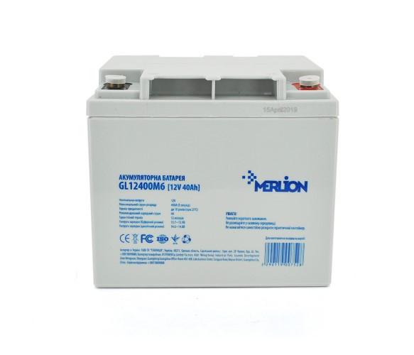 Аккумуляторная батарея MERLION GEL 12 V 40 Ah GL12400M6 White Q1