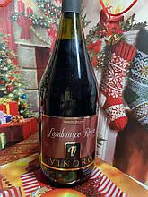 Вино червоне ігристе об'єм 1,5 л VINORO LAMBRUSCO