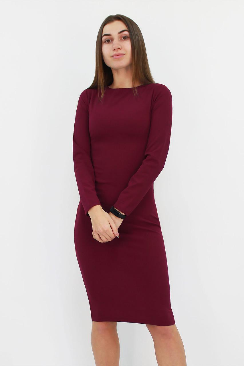 Удобное повседневное платье-футляр Helga, марсала