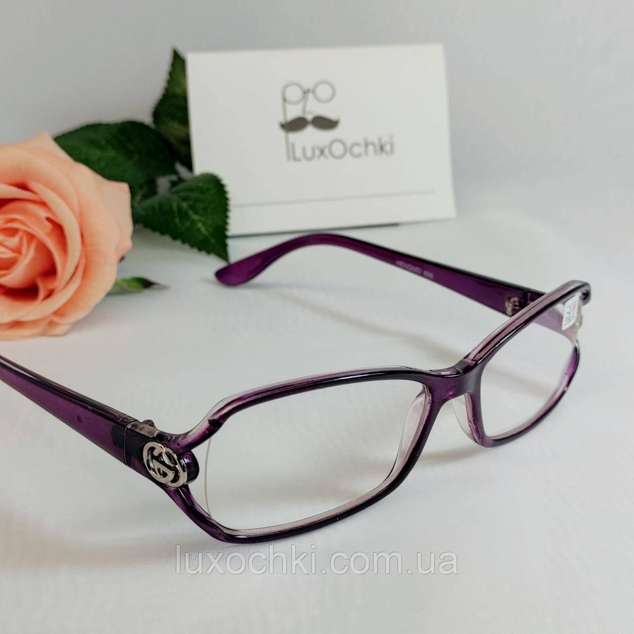 +1.0 Готовые диоптрические женские очки +1.0 в пластиковой оправе