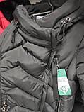 Универсальный женский пуховик DK-81, чёрный, фото 4
