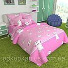 Комплект постельного белья детский Постельное белье полуторное Бязь Голд Кошка 150х215 к-2