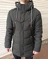 Куртка мужская, удлиненная, зима, фабричный Китай