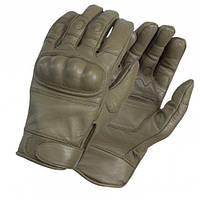 Перчатки тактические кожаные олива  (Mil-tec)  Германия