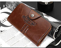 Кожаный мужской кошелек, портмоне, бумажник Bailini .ЕК28