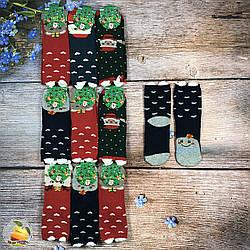"""Махровые носки """"Новогодняя тематика"""" Размер: 37- 41 см (01257)"""