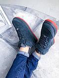 """Мужские зимние кроссовки Nike Air Force Winter """"Grey/Red""""   (копия), фото 5"""