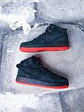 """Мужские зимние кроссовки Nike Air Force Winter """"Grey/Red""""   (копия), фото 6"""