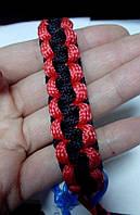 Браслет плетений червоно-чорний 43.2.2