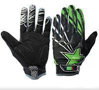 Перчатки Green Cycle NC-2355-2014 MTB с закрытыми пальцами S черно-зеленые